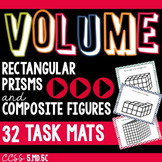 VOLUME of Rectangular Prisms and Composite Figure Task Mats 5.MD.5C