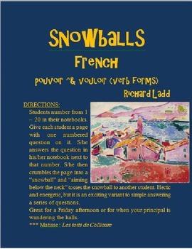 VOULOIR POUVOIR Snowballs FRENCH