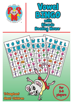 VOWEL BINGO - A great way to introduce the 5 English Vowel Letter Names