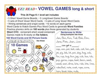 EZ2Read® VOWEL GAMES Long & Short