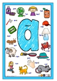 VOWEL POSTERS - 13 A4 Posters - Short and Long Vowel Digra