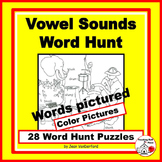PHONICS: SHORT - LONG - SPECIAL Vowels | Vocabulary | WORD HUNT Gr 1-3 CORE