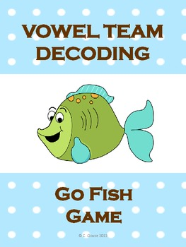 VOWEL TEAM DECODING GO FISH GAME