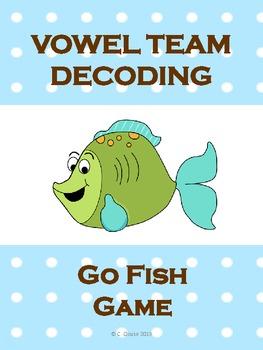 VOWEL TEAM DECODING GO FISH GAME
