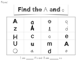 VOWELS - Phonological Awareness, vowel sound practice word find
