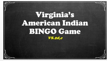 VS.2 - Virginia American Indians BINGO