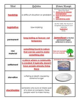 VS.3 - Jamestown Vocabulary Chart