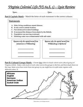 VS.4 - Virginia Colonial Life Quiz Review