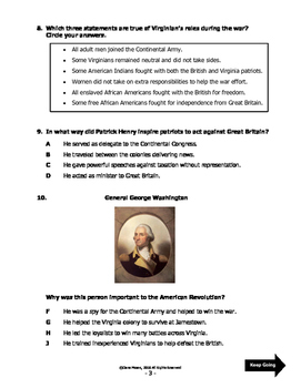 VS.5 - American Revolutionary War Test