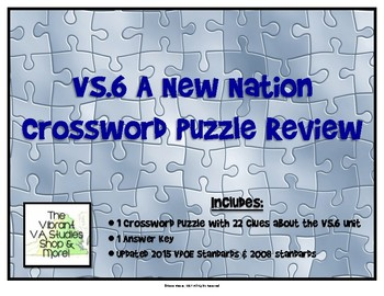 VS.6 Crossword Puzzle Review