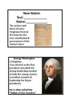 VS 6 Visual Flashcards- New Nation and Goverment