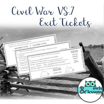 VS.7 Civil War Exit Tickets