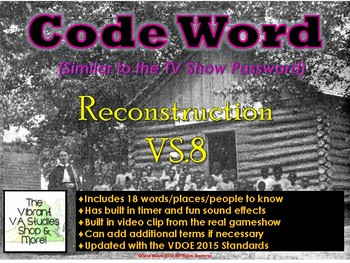 VS.8 - Reconstruction Codeword Game (Similar to Password)