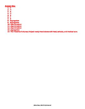 VS.8a,b Reconstruction Quiz
