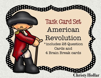 VS SOL 5abc Revolutionary War Review Task Cards SCOOT
