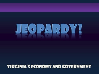 Virginia Studies VS.10 Review Jeopardy