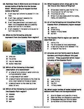VS.2a-c, VS.10b Coastal Plain Region Quiz