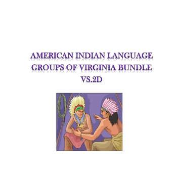 VS.2d American Indian Language Groups of Virginia