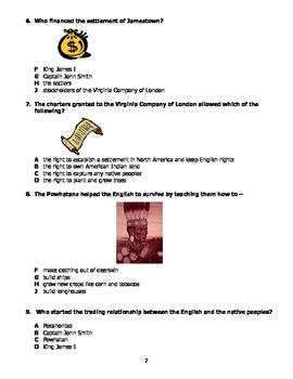 VS.3a,b,c,f,g Jamestown  Quiz