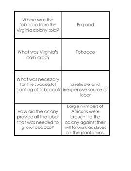 VS4 Colonial Virginia Flashcards