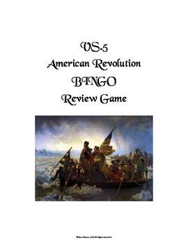 VS.5 - American Revolutionary War BINGO