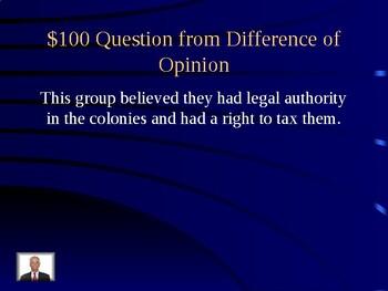 VS5 Jeopardy The Revolutionary War in Virginia