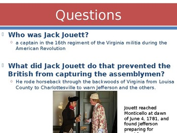 Virginia Studies VS.5C Major Events in Virginia during the Revolution Powerpoint