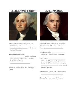 VS.6a Notes - George Washington and James Madison