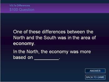 Virginia Studies VS.7 Civil War Review Jeopardy