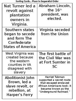 VS7 Materials: Civil War