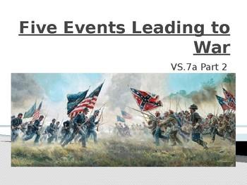 Virginia Studies VS.7a (continued) Five (5) Events that Le