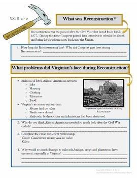 VS.8 a-c Reconstruction in Virginia
