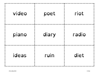 V/V Word Sort {Differentiated} + Seat work