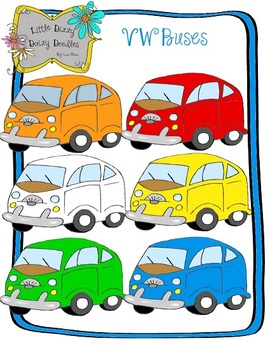 VW Bus Clip Art Pack