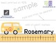 VW Bus Student Name Plates (Tags) with Numberline
