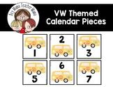VW Bus Themed Calendar Pieces