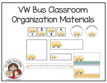VW Bus / Van Themed Classroom Organization