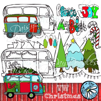 #OctTpTClipLove VW Color & Line Art Christmas
