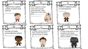 Va. Science Sol 4.9 Watersheds Task Cards