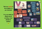 Vacabulary Classroom Displays of Nouns, Verbs and Adjectives!