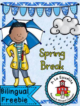Spring Break Bilingual Freebie