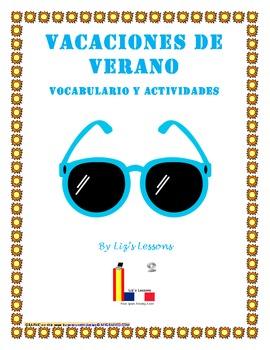 Vacaciones de Verano! Vocabulario y Actividades