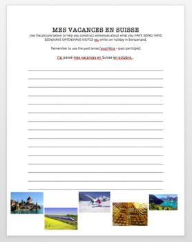 Vacances en Suisse - Writing