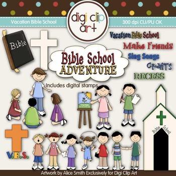 Vacation Bible School -  Digi Clip Art/Digital Stamps - CU Clip Art