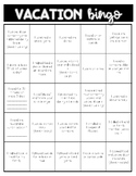 Vacation Bingo Homework
