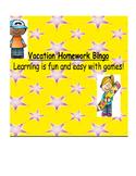 Vacation Bingo Homework Package