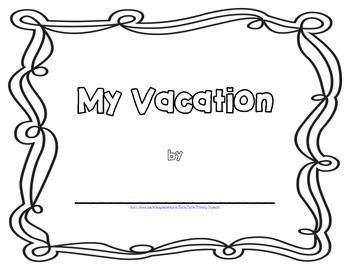 Vacation Book Writing activity