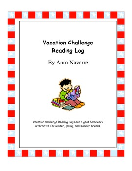 Vacation Challenge Reading Log - FREEBIE!