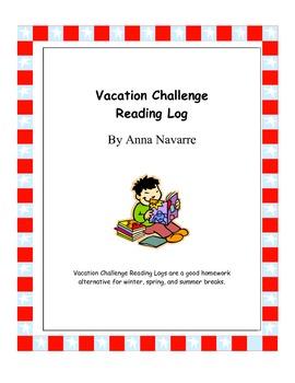 Vacation Challenge Reading Log - FREEBIE!