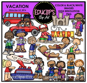 Vacation Clip Art Bundle {Educlips Clipart}
